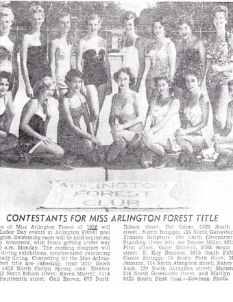 1956 Miss Arlington Forest