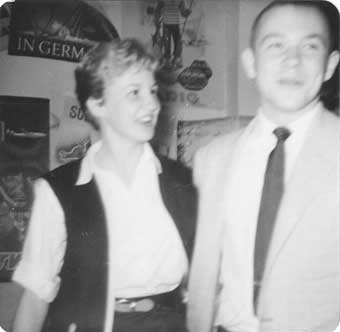 Gail Brown and Frank French at an Optimi Dance in May, 1958.